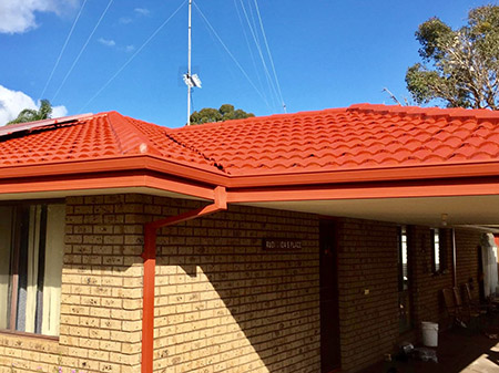 Coated Roof with new guttering by ROOFWEST Roof Restorations